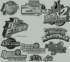 DDR Photoshop Brushes by DeadZaku