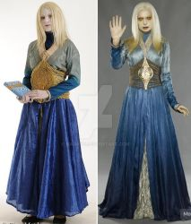 cosplay versus character Princess Nuala blue gown by Narayu