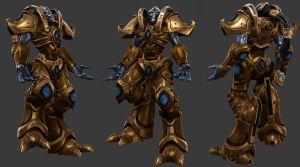 Protoss Zealot by Nshade3d