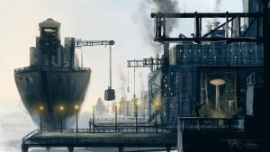 Industrial Docks Speed Paint by Ito-Saith-Webb