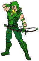 Green Arrow Colored by Axel-Knight