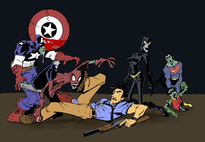 Zombie Heroes coloured by Me by MacLPirata