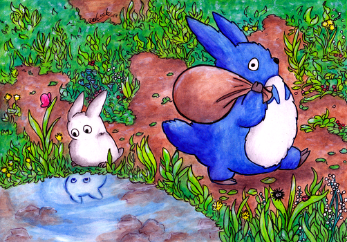 Little Totoro helpers by the-ChooK