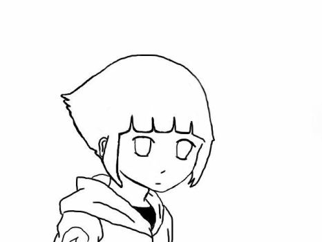 Lineart for NERONERO X3 Hinata by Buttercupgal11