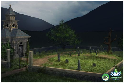 Sims 3: Supernatural Expansion Pack- Graveyard by TimothyAndersonArt
