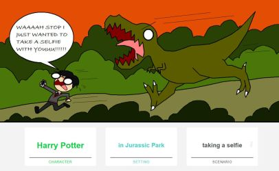 WTF is going on (Harry Potter vs T-Rex) by AccioPumpkin