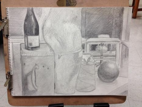 Drawing Class  Fall 2013 - Still Life Project by Ghost-Apple