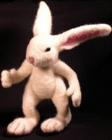 Needle Felted Rabbit by mysticalis