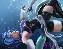 Aqua - Kingdom Hearts by MiraiHikariArt