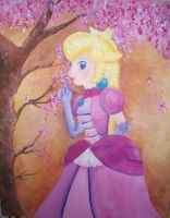 Princess Peach blossoms by Sieras