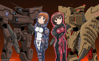 Girls Und Panzer X Muv-Luv Alternative by RaishaGS