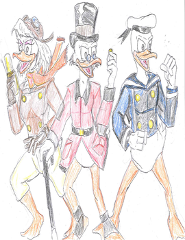 Duck Family of Adveturers by theaven