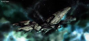 Spaceship concept by Heliofob
