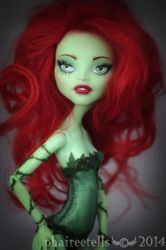 Monster High repaint Venus Poison Ivy portrait by phairee004