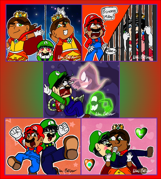 3DS Drawing 53 - Closet Life Mario Cosplay 2 by pandaserules97