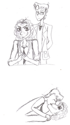 Joker and Crane sketches by WitchyWanda