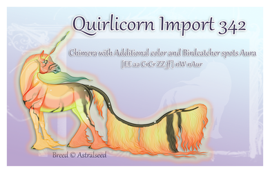 Quirlicorn Import 342 - Art Auction by Astralseed
