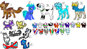 Free Unsold Adopts :CLOSED: by Midnite521