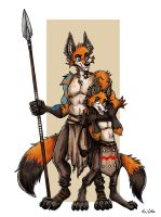 Sakara and Kuveli - Two Brothers by TheLivingShadow