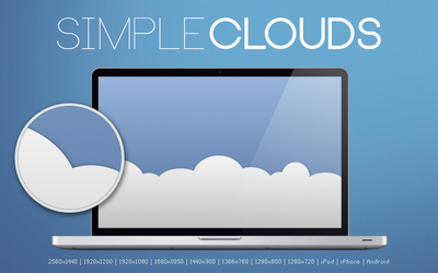 Simple Clouds Wallpaper by Sourg