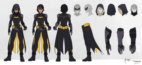 Batgirl - Cassandra Cain - Model Sheet by charlestanart