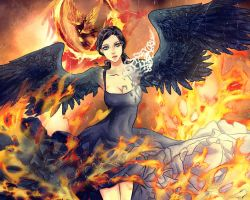 girl on fire katniss everdeen by Purple-Meow