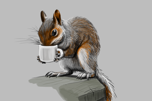 Coffee Cup Squirrel by Zerochan923600