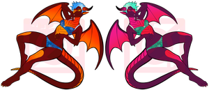 Fire and Ice Dragon Auction! CLOSED! by zovielle