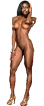 Anna Diop Nude Transparent Background by gasa979