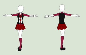 Fashion Design: School Uniform by MaliceInTheAbyss