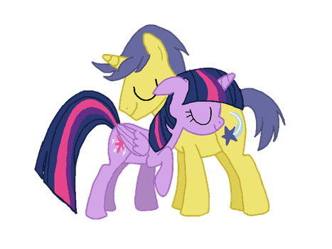 Twilight and Comet Tail (Request) by EmoshyVinyl