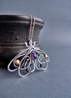 Amethyst butterfly necklace by UrsulaJewelry