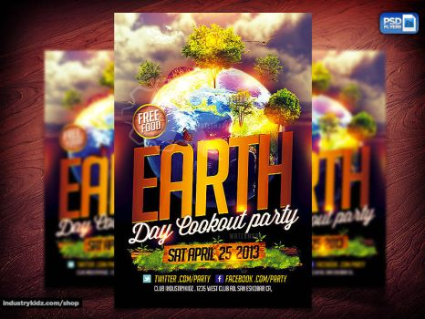 Earth Day PSD Flyer Design by Industrykidz