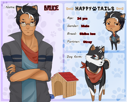 Bruce [Happy Tails Application] by KatVonBrookes