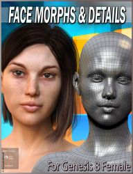 EJ Face Morphs And Details for Genesis 8 Females by emmaalvarez