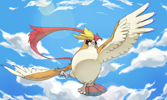 Mega Pidgeot by PinkGermy