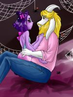 UT: Muffet x Asgore by hopelessromantic721