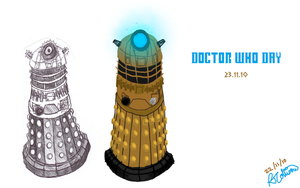 Daleks for Doctor Who Day by PonellaToon