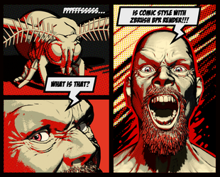 Comic Style with ZBrush BPR by Pablander