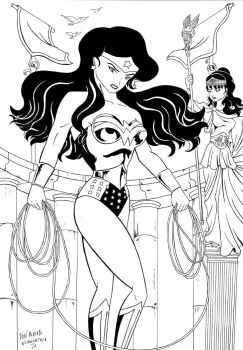 WonderWoman Day 2008 auction04 by dinamostudio