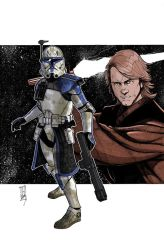 Commanders and Generals: Rex and Anakin Colors by Hodges-Art