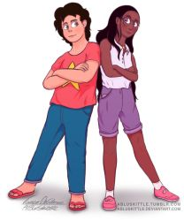 Steven Universe and Connie - Sketch #2 by ABluSkittle