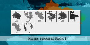 Photoshop Brushes Ngees Pack 1 by ngee