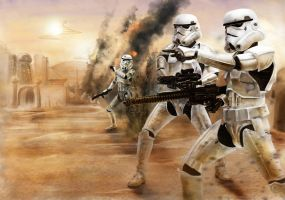 Star Wars- Stormtrooper battle by DookieAdz