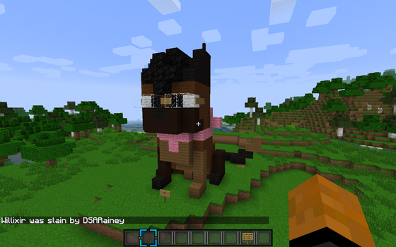 I made myself in minecraft x3 by ChocolateQuill