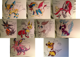 My Fake Eeveelutions by Tails19950