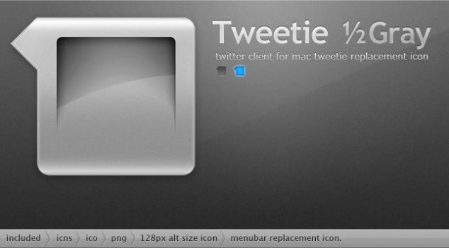 Tweetie halfGray Icon by Gpopper