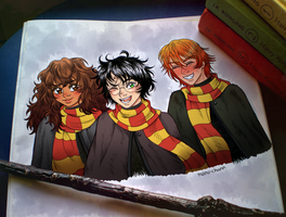 Harry, Ron and Hermione! by manu-chann