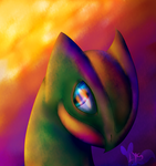 Sceptile's eyes -Commission- by LysMily