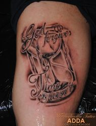 Hourglass tattoo by Adda by transilvaniatattoo66